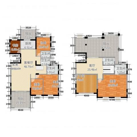 华英城三期5室2厅5卫1厨262.43㎡户型图