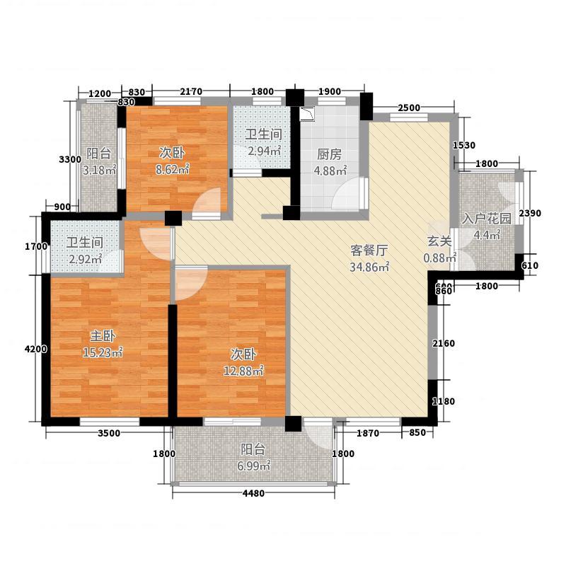 中天豪苑313.37㎡户型3室2厅2卫1厨