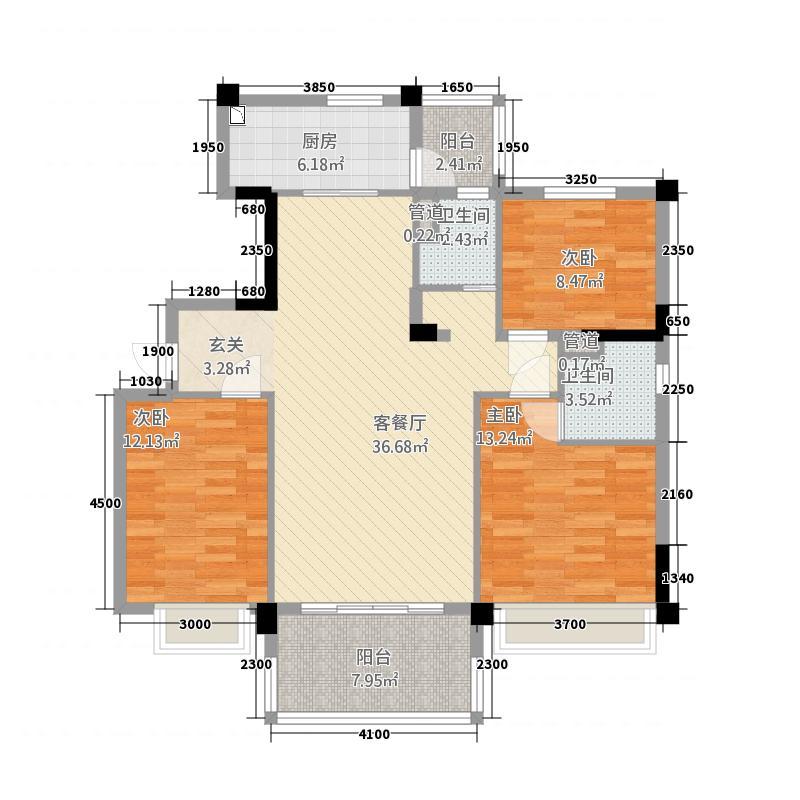 石门碧桂园117.00㎡户型