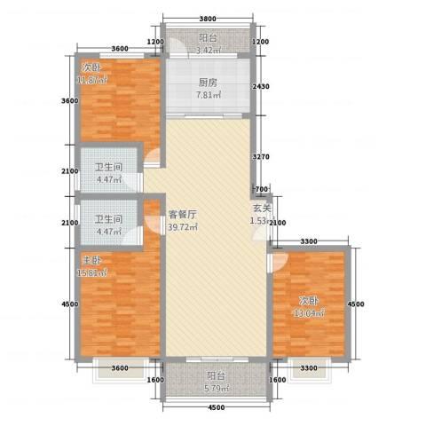 新东城3室1厅2卫1厨432153.00㎡户型图