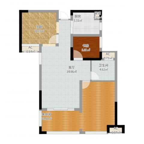 宣佳世纪嘉园1室1厅1卫1厨115.00㎡户型图