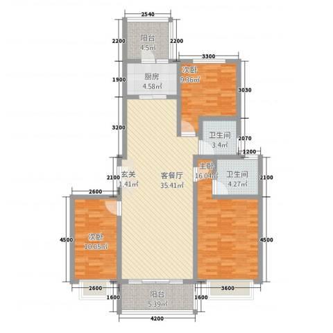 新东城3室1厅2卫1厨532133.00㎡户型图