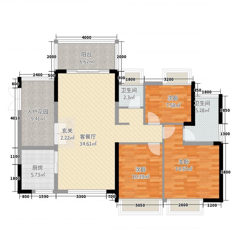 宏基・御堤湾5124.32㎡户型3室2厅2卫1厨