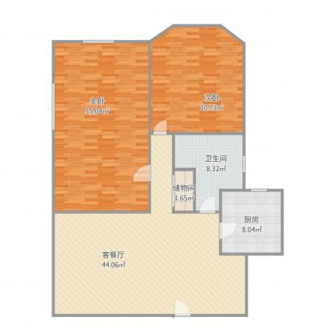 新基业大厦2室1厅1卫1厨155.00㎡户型图