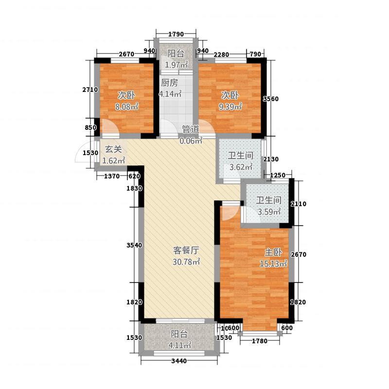 汇豪新天地118.00㎡恒成-C_户型3室2厅2卫