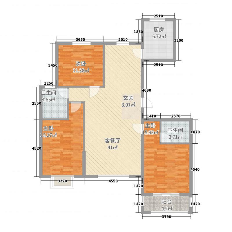 清华园F_副本户型3室2厅2卫1厨