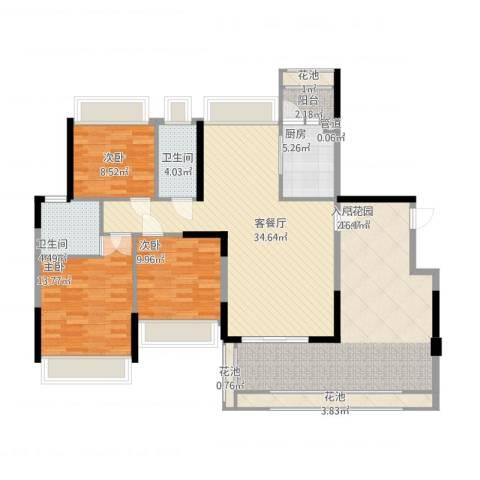 东城四季3室1厅2卫1厨166.00㎡户型图
