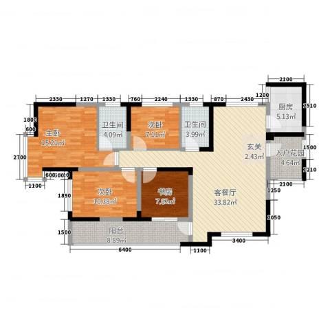 明珠热线4室1厅2卫1厨116.27㎡户型图