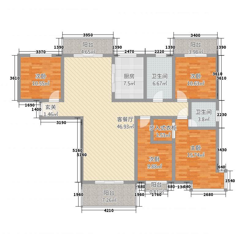 河洛印象188.80㎡C1户型4室2厅2卫1厨