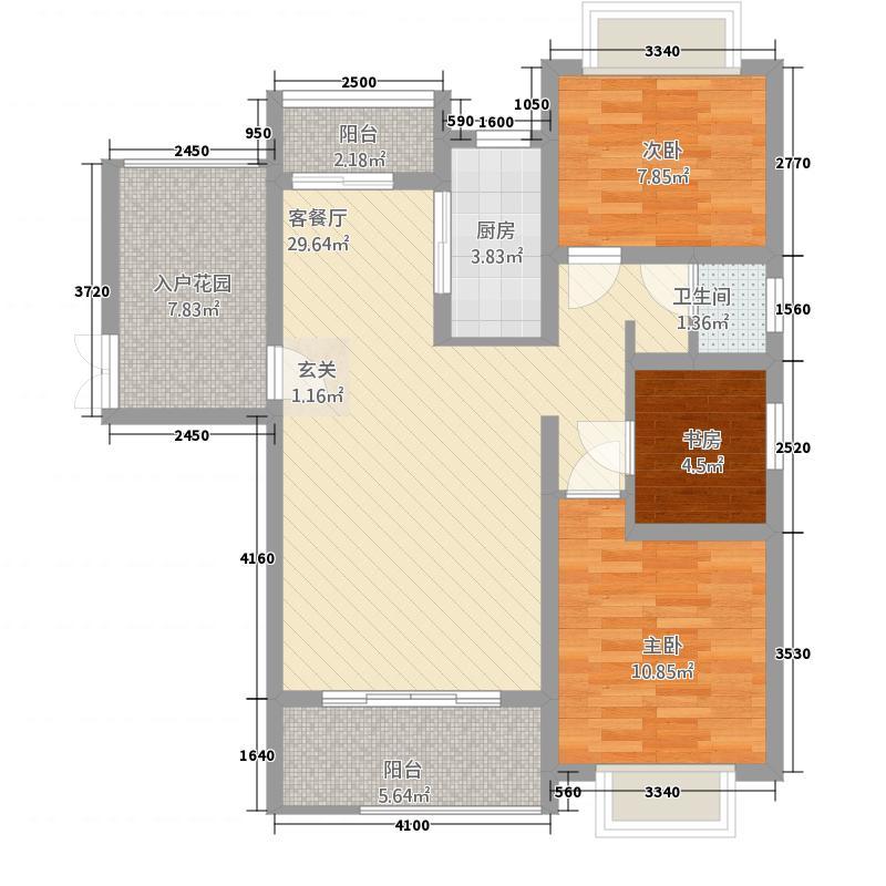 普罗旺斯17.00㎡5号楼1#8#户型3室2厅1卫1厨