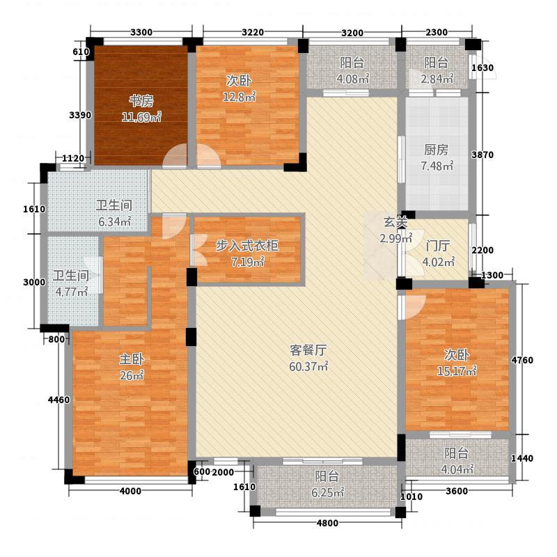 北斗星城21461622.00㎡户型4室2厅2卫1厨