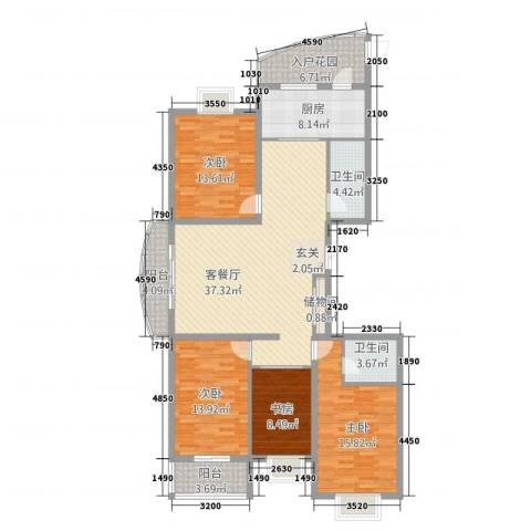 顺城一品4室1厅2卫1厨120.75㎡户型图