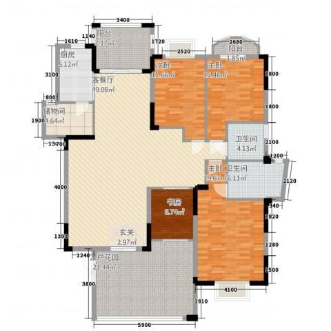 皇庭・御珑湾4室1厅2卫1厨818.00㎡户型图