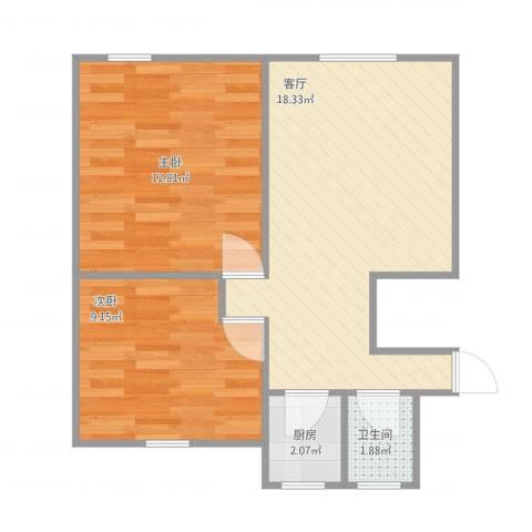 国和一村2室1厅1卫1厨89.00㎡户型图