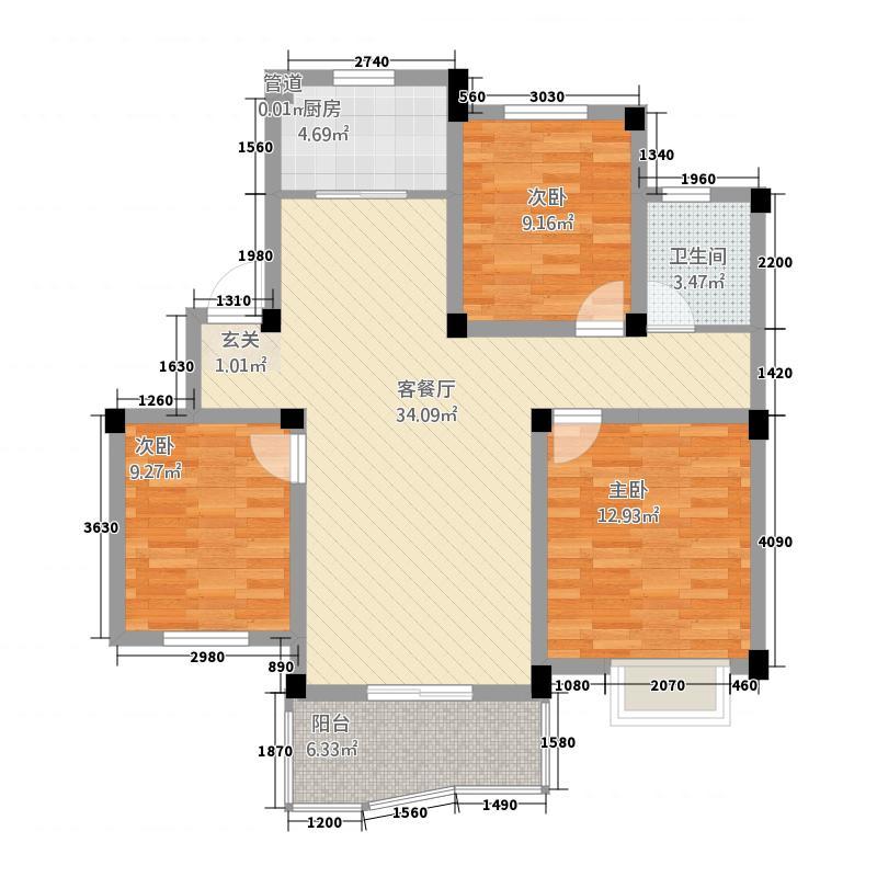 滨海水木花都四期滨海水木花都四期普通住宅3B-33室1厅1卫1厨户型10室