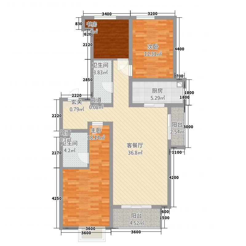 紫誉蓝143.00㎡单页-7户型3室2厅2卫1厨