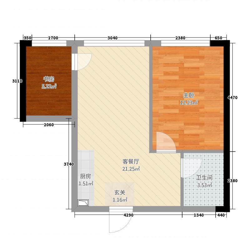 万瑞达国际公馆6.30㎡Wc2户型1厅1卫