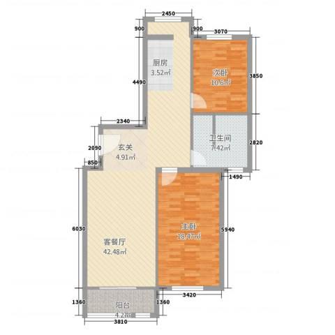 好佳明苑2室1厅1卫0厨115.00㎡户型图