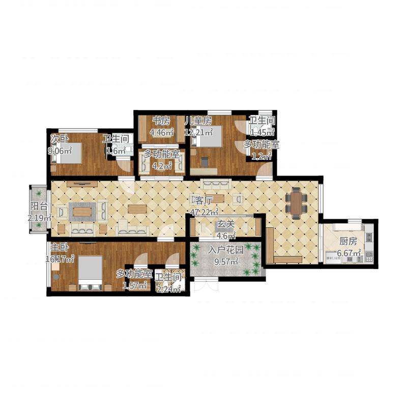 珠海_188平的房间设计_2015-10-28-1630