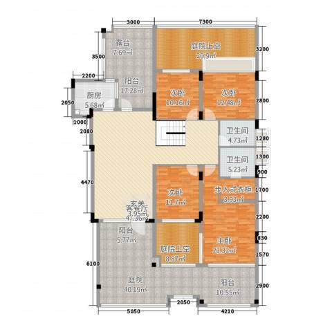 中航城4室1厅2卫1厨207.90㎡户型图