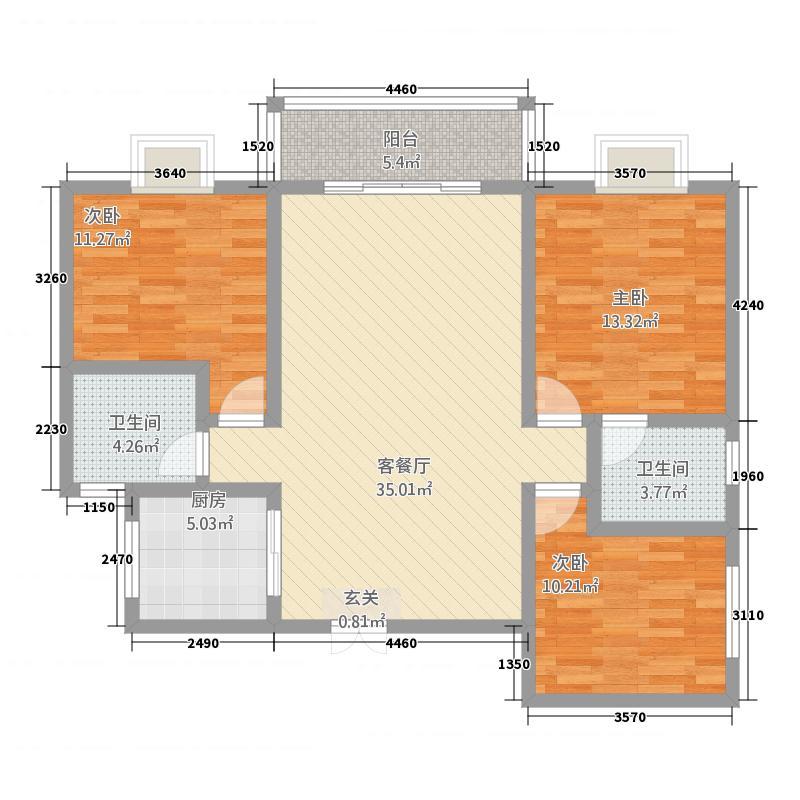 安龙商城户型3室2厅2卫1厨