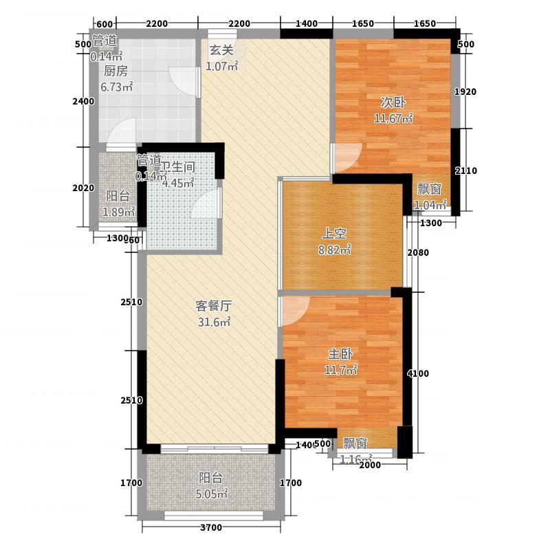 汇峰广场4.25㎡D3户型2室2厅1卫1厨