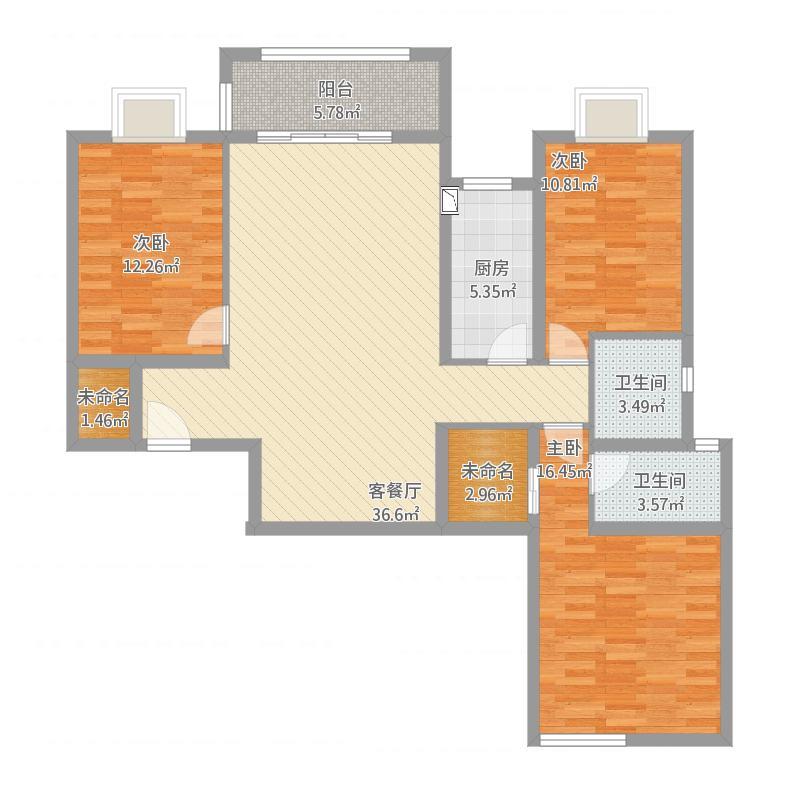 聚贤佳苑C 4三房两厅两卫 118㎡