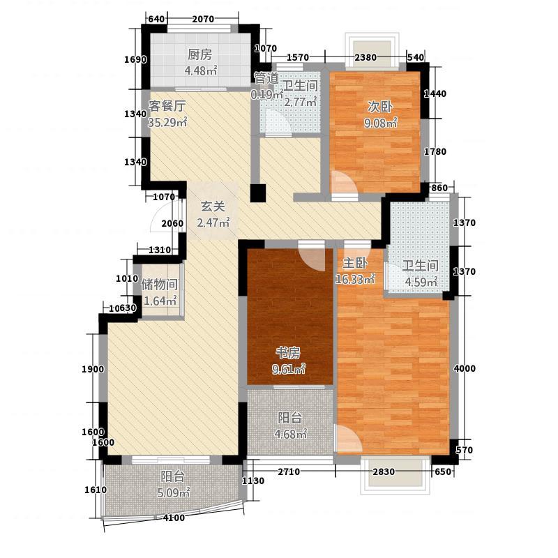百合花园135.60㎡1户型3室2厅2卫1厨