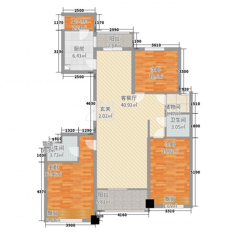 广厦・江山悦15.20㎡C平层官邸图库・150M²户型3室1厅2卫1厨