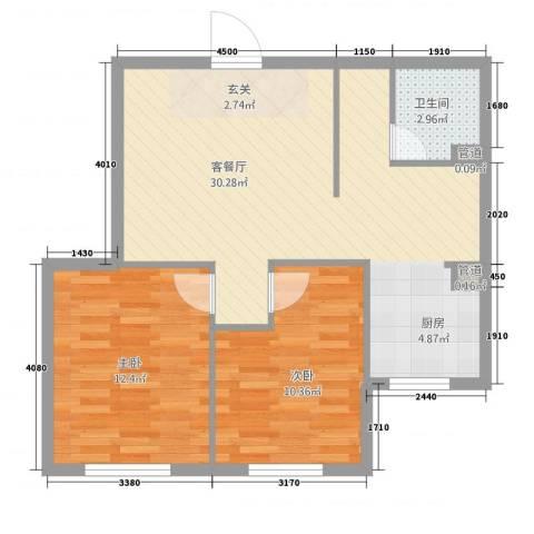 宗裕.悦府鑫城2室1厅1卫0厨79.00㎡户型图