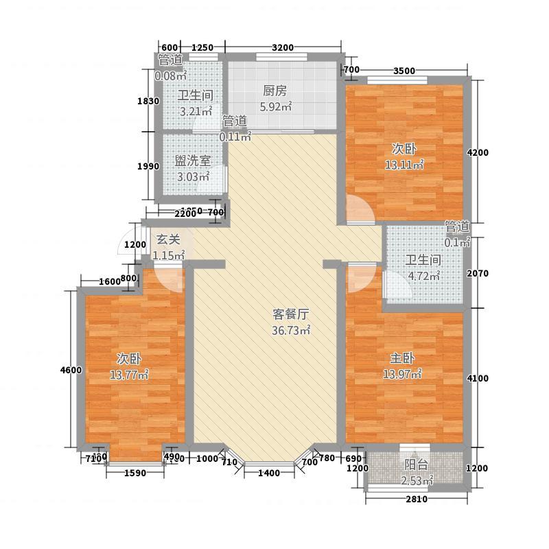 碧湖新村户型3室