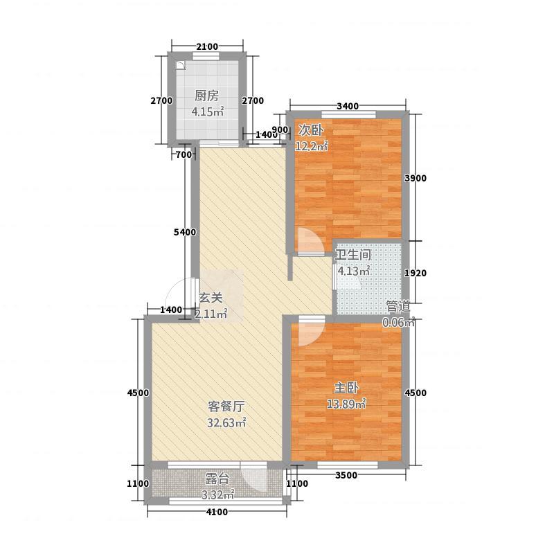 左岸公元187.71㎡C标准层户型4室2厅2卫1厨