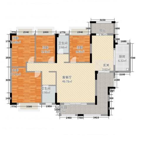 皇庭・御珑湾4室1厅2卫1厨14158.00㎡户型图