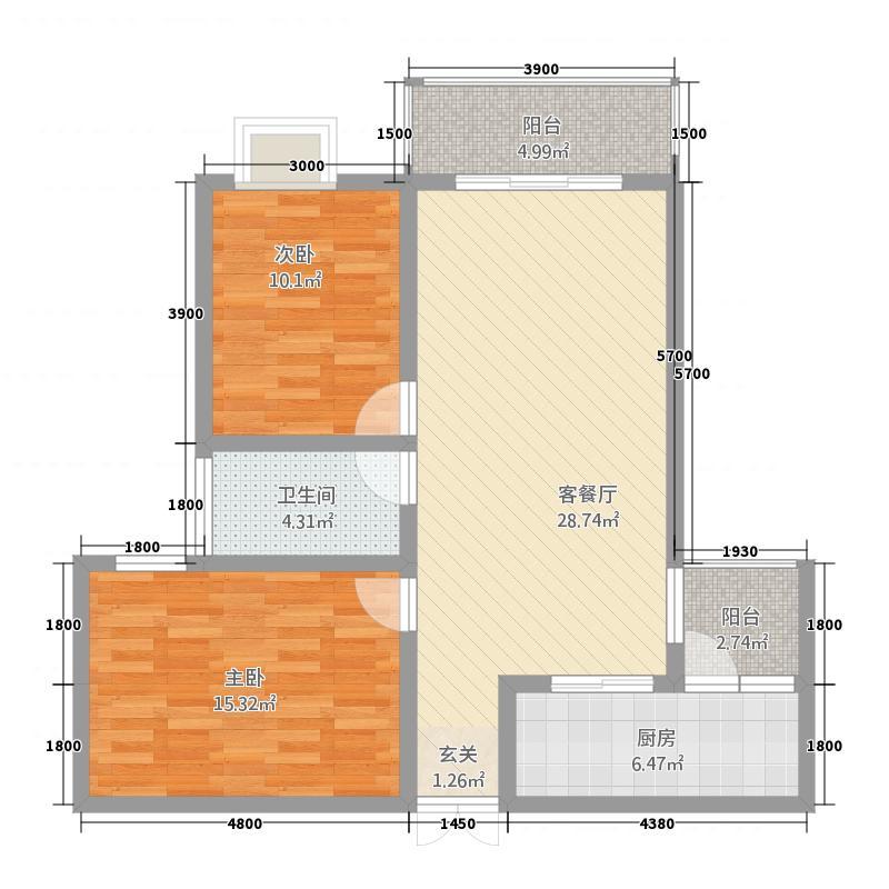 龙津大厦7户型