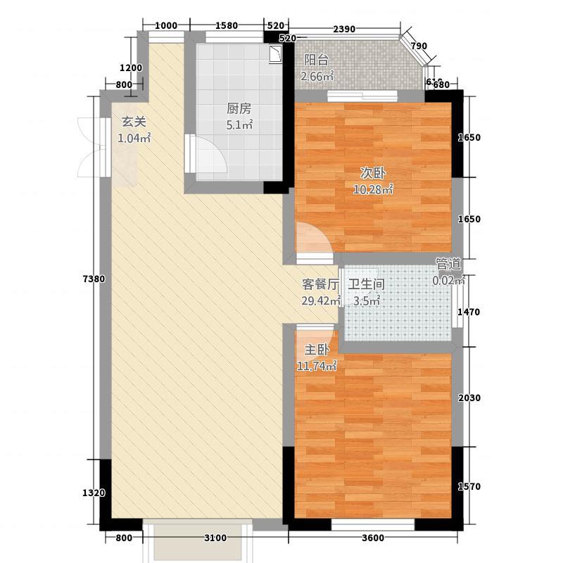 龙湾3983户型