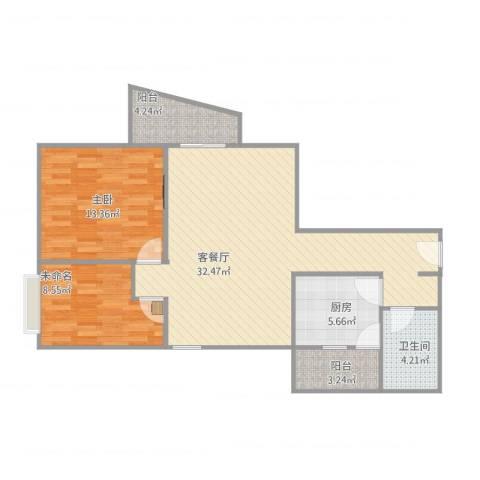 翠湖山庄1室1厅1卫1厨97.00㎡户型图