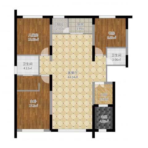 香悦四季-C43室1厅2卫1厨146.00㎡户型图