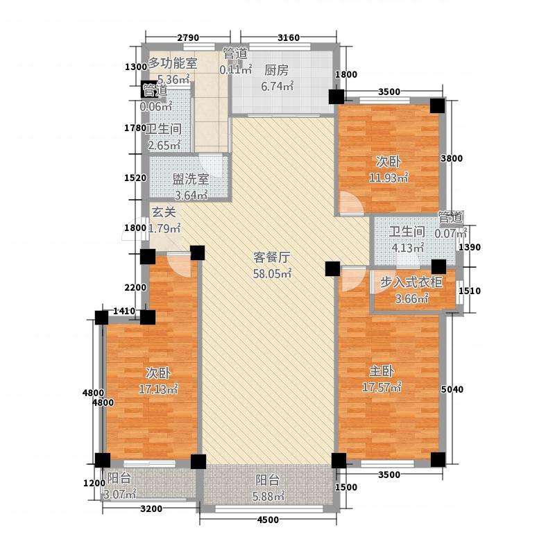 皇家公馆158.25㎡15825户型3室2厅2卫1厨