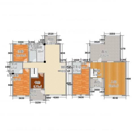 筑景・蓝河湾4室1厅3卫1厨195.84㎡户型图