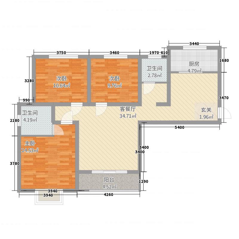 金桂湾123.48㎡10户型3室2厅2卫1厨