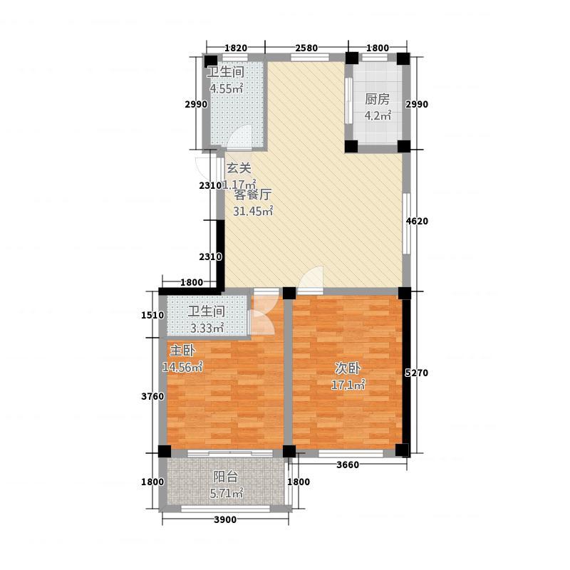 新湖绿园32217.72㎡A户型3室2厅2卫1厨