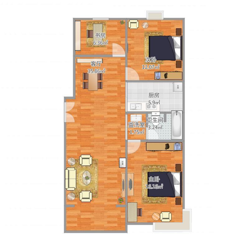 三室两厅东边套