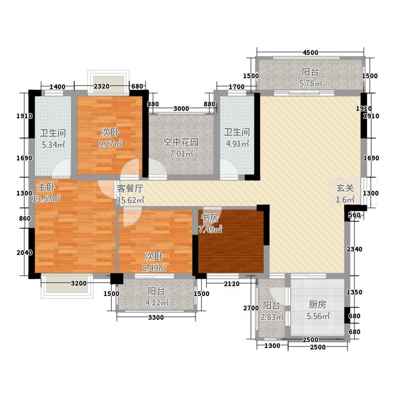 新世纪广场1352141.50㎡户型5室2厅2卫1厨