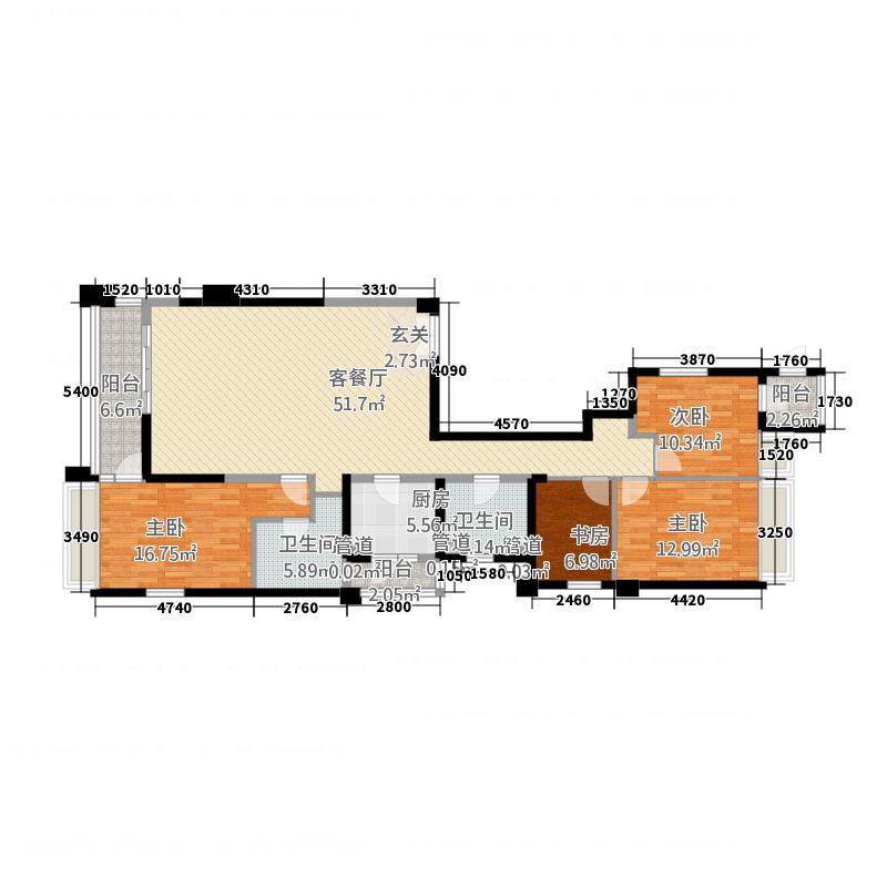 御翠天�180.00㎡御翠天�户型图180平方米4室2厅2卫1厨户型4室2厅2卫1厨