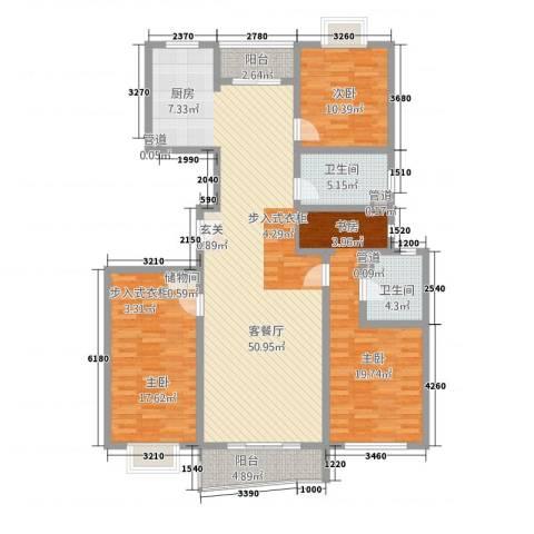 虹叶茗园3室1厅2卫0厨165.00㎡户型图