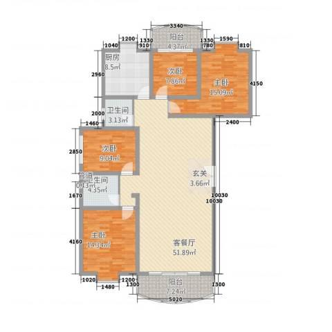 幸福人家4室1厅2卫1厨178.00㎡户型图
