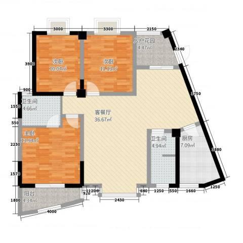 东方阁3室1厅2卫1厨23131.00㎡户型图