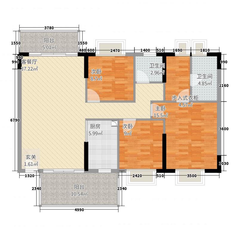 畔山翠谷居户型3室
