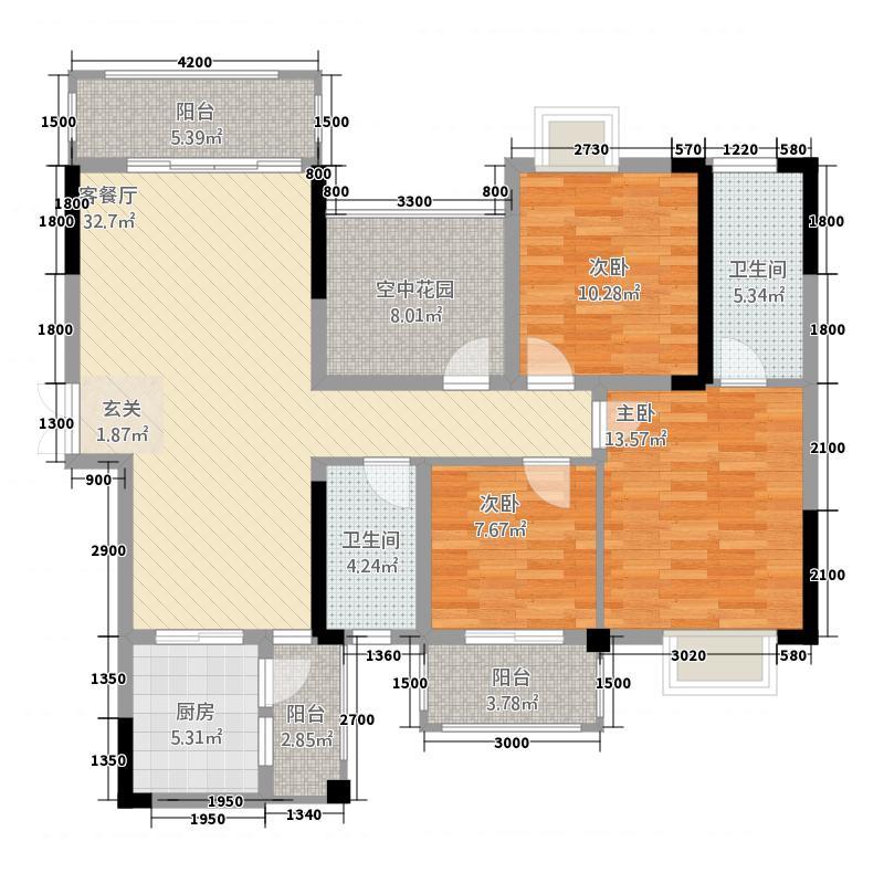 新世纪广场1145126.63㎡户型4室5厅5卫1厨