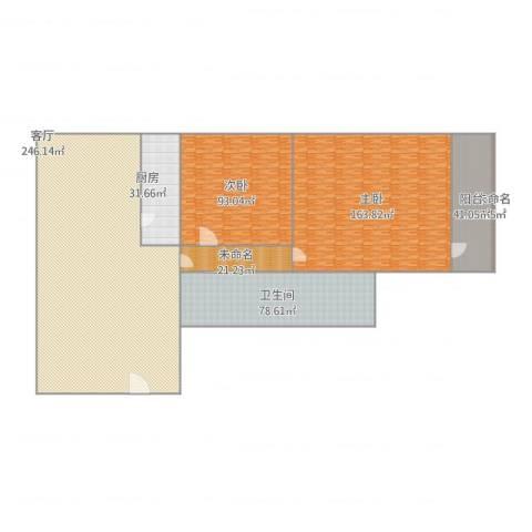 永定路西里2室1厅1卫1厨870.00㎡户型图